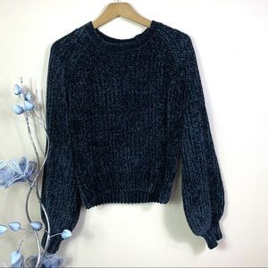 NEW Anthropologie Balloon Sleeves Knit Pullover